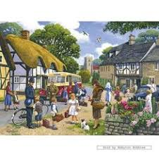kevin walsh puzzle on puzzle into wall art with the village postman by kevin walsh art puzzles kevin walsh