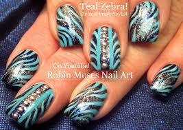 Nail Art Design Animal Print Robin Moses Nail Art Hot Pink Nails With Black And Silver