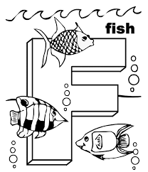 Small Picture Animal Free Alphabet Coloring Pages Letter F Alphabet Coloring