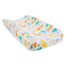 trend lab lullaby jungle plush changing pad cover hover to zoom