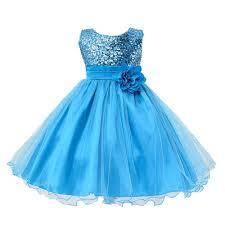 Light Blue Baby Dress L067 Baby Girls Sleeveless Flower Dress Princess Wedding Party Children Clothing Size 100 Light Blue