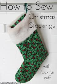 Christmas Stocking Pattern With Cuff Gorgeous How To Sew Christmas Stockings With A Faux Fur Cuff Tuesday Stitches