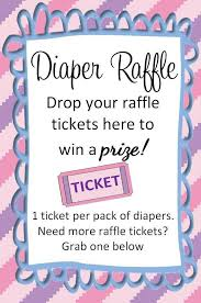 raffle sign actual diaper raffle ticket drop sign my creation feel free to