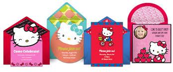 invitation card hello kitty free hello kitty invitations hello kitty online invitations punchbowl