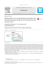 Pdf Optimization Of Acid Digestion For The Determination Of