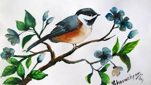 how to paint a bird in watercolor watercolor painting for beginners