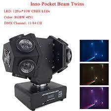 Inno Light Us 244 24 14 Off Hot Sale Night Light Led 12x10w Inno Pocket Beam Twins Stage Lights High Brightness 120w Led Moving Head Light Dmx512 In Stage