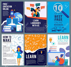 Presentation Flyers Online Education Flyers Brochure Cover Template Of Internet
