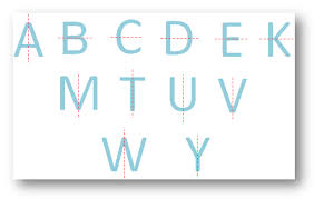letters having one line of symmetry