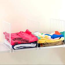 shelf dividers for closets closet shelf dividers space saving wardrobe organizer clothes storage rack mar closetmaid