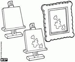Kleurplaat Drie Fasen Voor Een Schilderij Kleurplaten