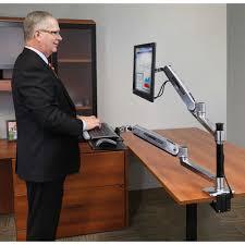 ergotron workfit lx sit stand desk mount system standing
