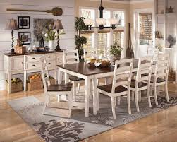 White Wood Living Room Furniture Grey Wood Dining Table Eleanor Grey Twotone Wood Butterfly Leaf