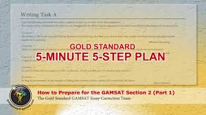 how to prepare for the gamsat section gold standard essay  how to prepare for the gamsat section 2 gold standard essay guide first of 2 parts