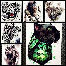 черная кошка Leopard водонепроницаемый временные татуировки пантера