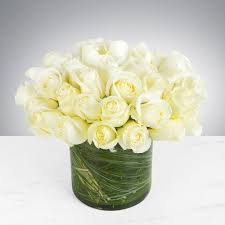 two dozen white roses by bloomnation