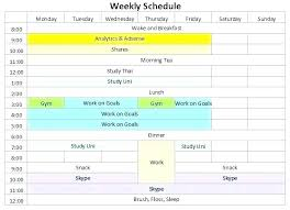 Weekly Task Schedule Task Scheduler Excel Template Related Post Daily Work