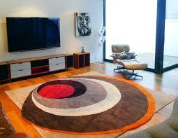 image of stylish mid century modern area rugs