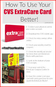 how to use your cvs extracare card better