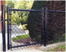 black chain link fence gate. Wonderful Fence Blackvinylcoatedresidentialgate In Black Chain Link Fence Gate C
