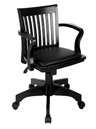 wooden desk chair for office in glossy black interior design ideas