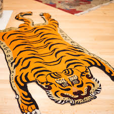 powerful tiger rugs tibetan rug 05 thedharma