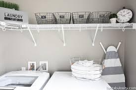 diy laundry room shelving storage ideas