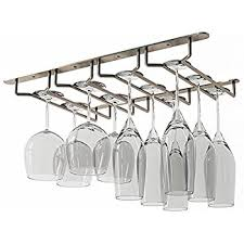 WALLNITURE Stemware Wine Glass Rack Holder Under Cabinet Storage Oil Rubbed  Finish 10 Inch Deep