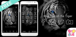 Theme -Blue <b>Eye of the Tiger</b>- - Apps on Google Play