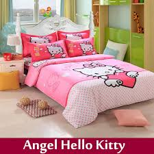 home textile children cartoon print king size bedding set cotton 4pcs bed linen bed sheets