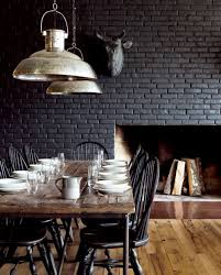 Black Wall Interior brick wall for texture