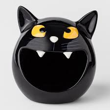 halloween candy bowl ceramic. Modren Candy Black Cat Halloween Candy Bowl To Ceramic L
