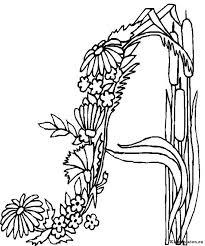 Alfabet Bloemen Kleurplaat 827169 Kleurplaat