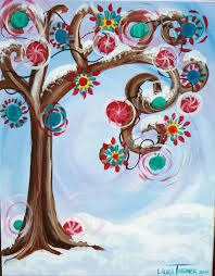 Christmas Paintings On Canvas Easy Ideas In Home 30