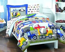 cars bedding twin airplane bed trucks police car for boys comforter set 3 sheet