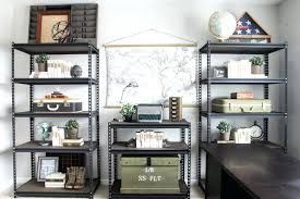 cheap office decorations. Industrial Office Decor How To Style Shelves On The Cheap House For Decorations