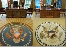 obama oval office decor. The Quotes On Obama\u0027s Rug (on The Right, Above) Are Sewn Around  Perimeter Of And Non-partisan. Two From Democratic Presidents, Obama Oval Office Decor E