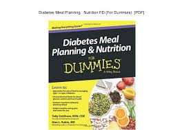 Diabetes Meal Planning Pdf Diabetes Meal Planning Nutrition Fd For Dummies Pdf