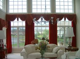 Window Valance Living Room Living Room Modern Window Treartments With Bay Window And Modern