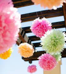 Pom Pom Decorations Tissue Pom Pom Flower Numbers Diy Crafthubs