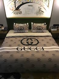 Designer Comforter Sets Gucci 4pcs Classic New Design Duvet Cover Queen Bedding Sets My