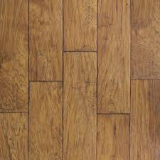 allen + roth 6.14-in W x 4.52-ft L Saddle Hickory Handscraped Wood