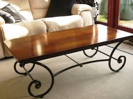 coffee table wrought iron coffee table with wooden top reclaimed wood and metal coffee table