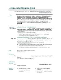 Rn Resume Format Resume Template Directory