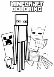 Minecraft is an independent game mixing construction and adventure, created by markus persson and developed since january 2012 by a small team within mojang. Minecraft Free Printable Coloring Pages For Kids
