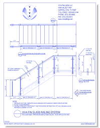 dwgfin glass panel perforated metal panel railing stair view