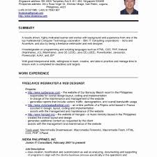 Ccna Resume Sample Singapore Resume Format Lovely Ccna Resume Format Ccna Resume For 3