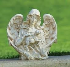 garden angel statues. 12\u0027\u0027 ANGEL WITH LAMB GARDEN Garden Angel Statues E