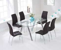 piazzo 160cm gl dining table with calgary chairs