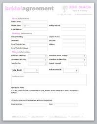 hair stylist makeup artist bridal agreement contract template fchxcwcv